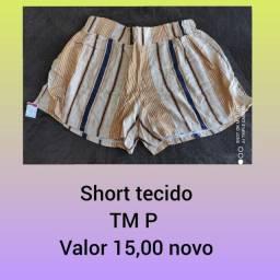 Short tecido