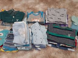 Lote de roupas menino rn,p,m 52pcs