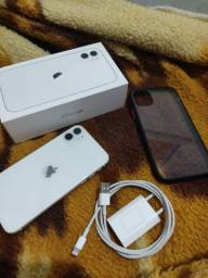 iPhone 11 branco 64g impecável