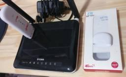Modem Móvel ZTE4G + Roteador D-Link DWR116 USB