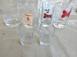 6 copos com marcas de bebidas,30,00 o lote