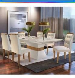 Mesa com 6 cadeiras 1200