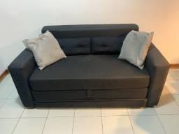 Sofa Cama Tok Stock 2 Lugares Preto 160x85 (160x190 Cama) R$1.800,00