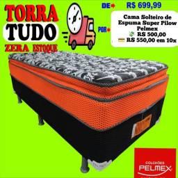 Box Solteiro Pelmex com Espuma Pilow