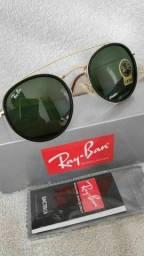 Oculos Double Bridge verde Cristal