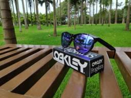 Oakley frogskins preto roxo espelhado polarizado original