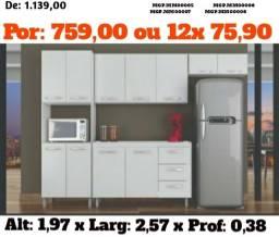 Super Desconta para seu Lar - Cozinha Compacta com Balcão Lindissimo - Novo