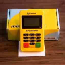Máquina de cartão Minizinha NFC 9x de 5,14 ou à vista por R$40,00.