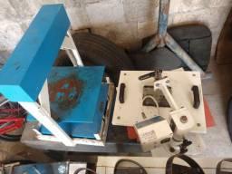 Máquina de estampar camisa e de fazer sandálias