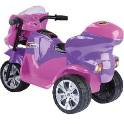 Moto Elétrica Infatil Viper Lilás e Pink 6V Homeplay novinho na caixa sem detalhes.