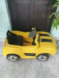 Carrinho de bateria camaro amarelo