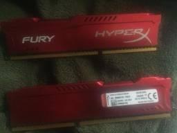 Memória RAM HyperX Fury de 4GB ddr3 1866Mhz 1,5V