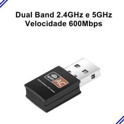 Receptor Wireless Usb Wifi 5ghz Dual Band 600mbps
