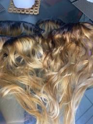 Mega hair loiro (cabelo humano brasileiro) 140g 55cm