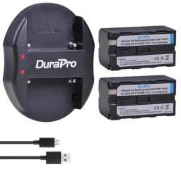 Baterias e carregadores para LEDs e filmadoras