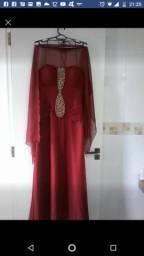 Vestido de festa cor marsala