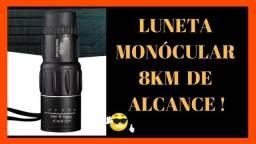 Monoculo Telescópio Luneta 8 km Alcance Foco Ajustável