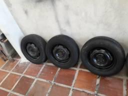 3 rodas ferro aro 13 corsa