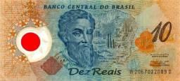 Nota de dez reais plastificada-brasil-1500-2000