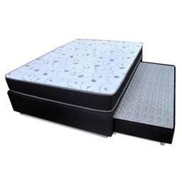 Conjunto cama box com auxiliar + colchão de espuma D33