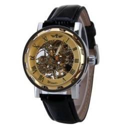 960ea9edcd9 Relógio Masculino Winner Esqueleto Mecânico Dourado - Bijouterias ...