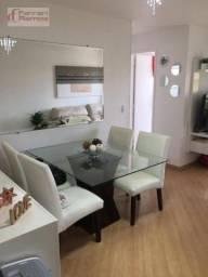 Apartamento com 2 dormitórios à venda, 56 m² por r$ 270.000 - vila augusta - guarulhos/sp