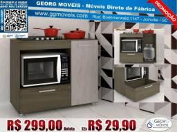 Balcão p/ Cooktop e Forno Gavetão e Porta Novo