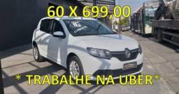 Renault Sandero  1.6 2016 Completo - Oportunidade Uber 99 - 2016