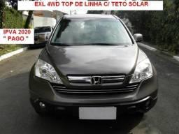 Honda Crv EXL 4wd 2.0 Autom.top c/teto solar - 2009