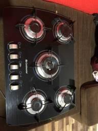 Fogão cooktop continental 5 bocas chama dupla