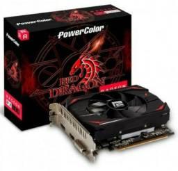 Placa de vídeo  RX 550 4Gb Redragon 10x no cartão