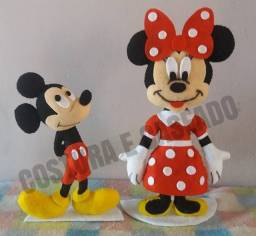 Mickey e Minnie em feltro- Pronta Entrega