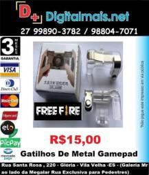 Promoção - Gatilhos De Metal Gamepad Botões L1-r1 Pubg, Free Fire