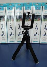 Mini Tripe Flexivel e Bastao de Selfie p/ Camera e Celular<br>
