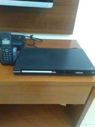 Aparelho DVD Philips e telefone sem fio