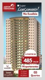 Ap1774 - Madri Residence - Eusebio, apt com 3 quartos(2 suítes, sendo uma master)