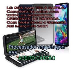 LG G8X ThinQ c/2 telas NF Garantia até marbo/2021 aceito CARTÃO