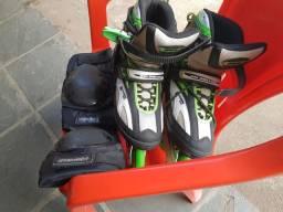 Patins rollers + joelheira