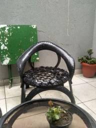 Mesa+ cadeira de pneus