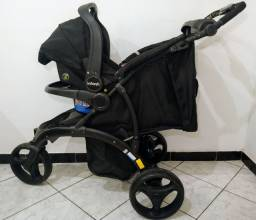 Carrinho de Bebê com Bebê conforto Infanti Off Road Onyx com Base Isofix SUPER CONSERVADO