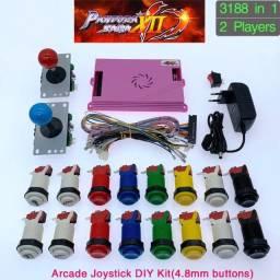 Pandoras Box Saga 12 + Kit completo Arcade - Vermelho e Preto