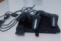 Vendo PS2 com 2 controles e desbloqueio