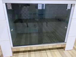 2 Portas de Vidro temperado para pia
