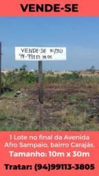 VENDE-SE LOTE NO FINAL DA AVENIDA AFRO SAMPAIO