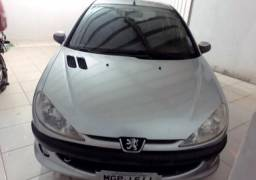 Peugeot 206 prata 2008 completo
