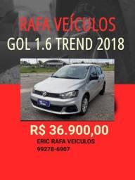 Rafa Veiculos gol 1.6 Trendline 2018 com 1.000 de entrada. Eric Rafa Veículos ggt