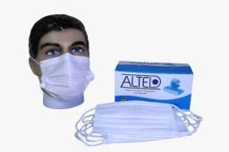 Cx. com 50 unidades Máscara Descartável Proteção Facial Tripla Camada R$39,90