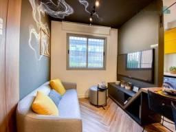 Apartamento com excelente localização e ótima área de laser para sua família com 1 dormitó