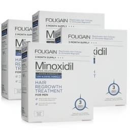 MINOXIDIL FOLIGAIN 5% - Fórmula com Baixo Teor de Álcool