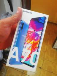 A caixa do Samsung Galaxy A70